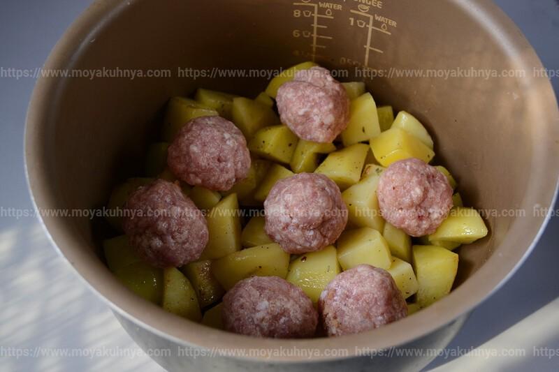 как приготовить тушеную картошку с фрикадельками